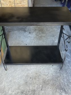Firm Price Metal framed wood shelf storage 32 by 31 for Sale in Durham,  NC