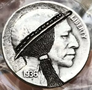 """Hand Carved """"Hobo"""" Buffalo Nickel 1936 Date One of a Kind """"Indian Scout"""" for Sale in Geneva, IL"""