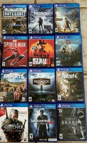 PS4 GAMES BUNDLE (GAMES WONT BE SOLD SEPARATELY) for Sale in San Antonio, TX