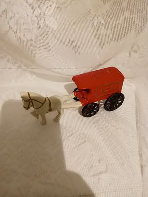 Vintage cast iron toy horse drawn horse wagon early 20th century for Sale in Martinsburg, WV