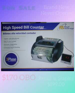 Royal Sovereign High Speed Bill Counter Brand New for Sale in Henderson, KY