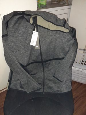 Adidas large dri fit jacket with hoody new with tags for Sale in Austin, TX