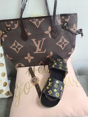 New stile fresh pretty sandals bags watch for Sale in North Andover, MA