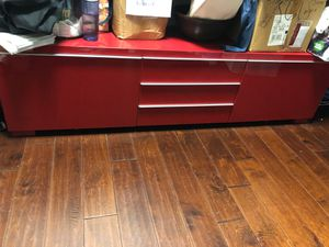 IKEA Besta Burs RED lacquer tv unit for Sale in Washington, DC