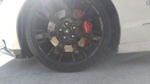 Black Maserati Trident rims and tires for Sale in White Plains, MD