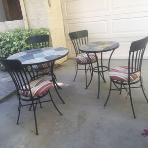 Vintage heavy rod iron patio set imported from Mexico for Sale in Tempe, AZ
