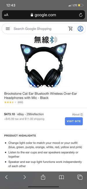 Cat headphones for Sale in Long Beach, CA