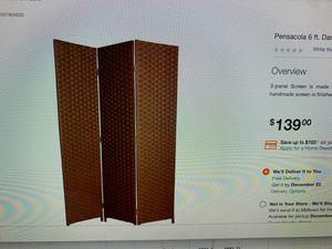 Brown room divider for Sale in Atlanta, GA