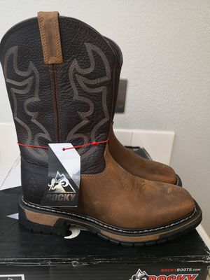 Brand new rocky soft toe work boots size 8.5 for Sale in Riverside, CA