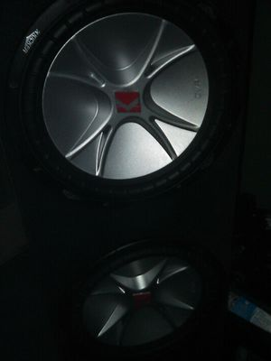 3 12 inch KICKERS COMPETITION CVR SUBS IN A SPEAKER BOX GREAT CONDITION WORK GREAT for Sale in Norwalk, CA