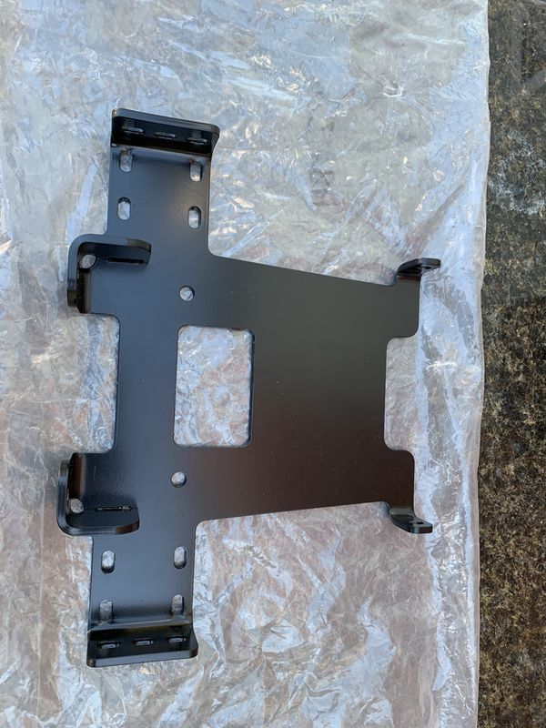 Warn winch contractor and 1500 mounting plate