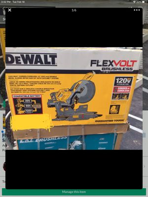 FLEXVOLT 120-Volt MAX Lithium-Ion Cordless Brushless 12 in. Sliding Miter Saw with AC Adapter for Sale in Anaheim, CA