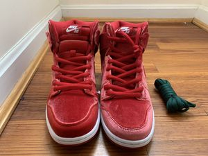 Nike Sb premium red velvet hi tops for Sale in Washington, DC