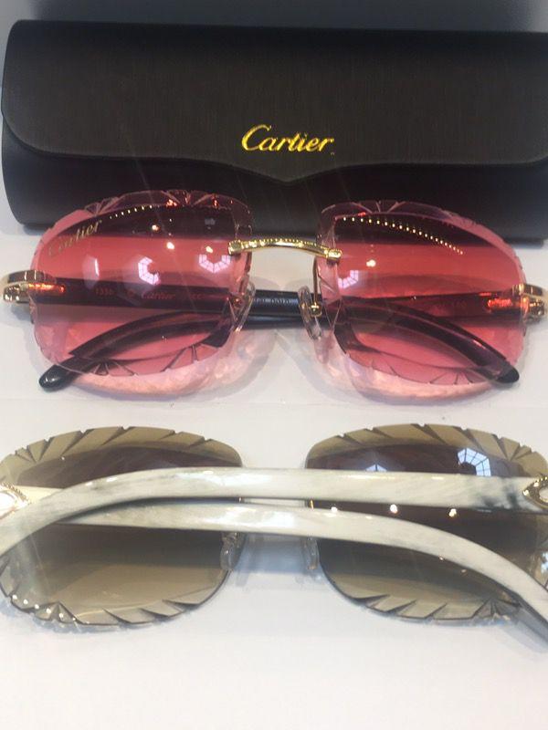 8e342d89e3a White Buffs Diamond Cut Cartier Glasses for Sale in Detroit