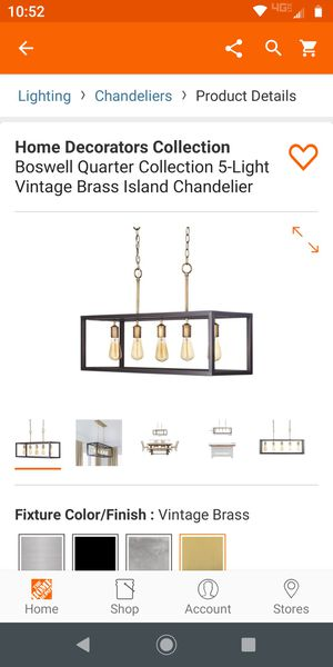 island chandelier new in box never opened for Sale in Grand Prairie, TX