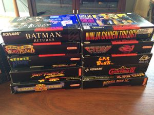 Super Nintendo CIB Games, message for prices for Sale in Rossville, MD