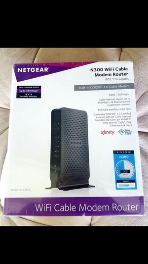 NETGEAR N300 Cable Wifi Modem Router for Sale in San Dimas, CA