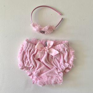 Newborn Girl Infant Headband Diaper Cover Photo Prop for Sale in Deerfield Beach, FL