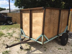 Utility trailer with tall walls, very sturdy 5' x 8' x 4' Landscaping moving hauling for Sale in Delray Beach, FL