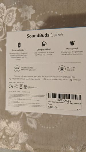 Anker SoundBuds Curve for Sale in Brooklyn, NY