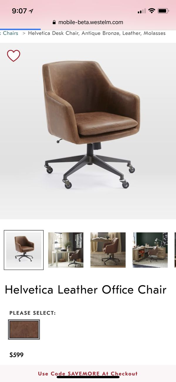 Groovy West Elm Helvetica Leather Office Chair No Legs For Sale Gmtry Best Dining Table And Chair Ideas Images Gmtryco