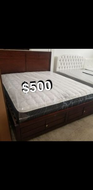 Cali king bed frame and mattress included for Sale in Los Angeles, CA