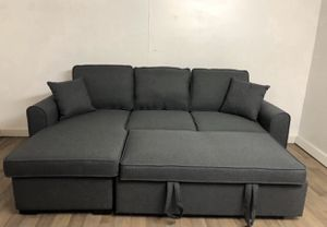 FREE DELIVERY THIS WEEKEND ONLY - BRAND NEW IN SEALED BOX SOFA BED SLEEPER SECTIONAL COUCH WITH CHAISE STORAGE for Sale in Anaheim, CA