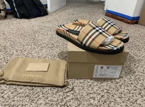 Burberry Men Ashmore Check Slide Sandal Size 9US/42EUR for Sale in Wildomar, CA