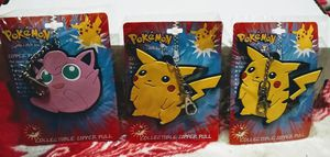 6 vintage Pokemon Collectible Zipper Pull 2 of each character. Pikachu, Charmander and Jigglypuff. for Sale in Shoreline, WA