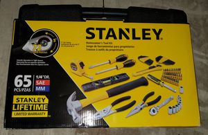 Stanley 65 Piece Homeowners DIY Tool Kit for Sale in Burlington, NJ