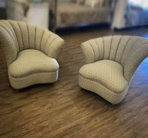 Antique Vintage Art Deco Style pair of chairs for Sale in Fort Lauderdale, FL