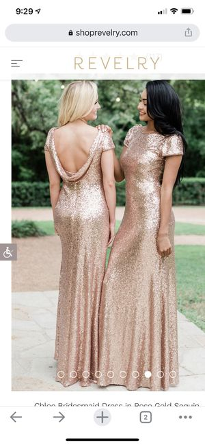Revelry Gold Sequin Gown for Sale in Traverse City, MI