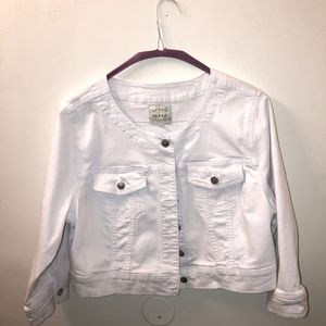 Torrid White Denim Crop Jacket 2X for Sale in Los Angeles, CA