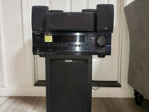 Polk audio surround sistem with ONKYO receiver for Sale in San Diego, CA