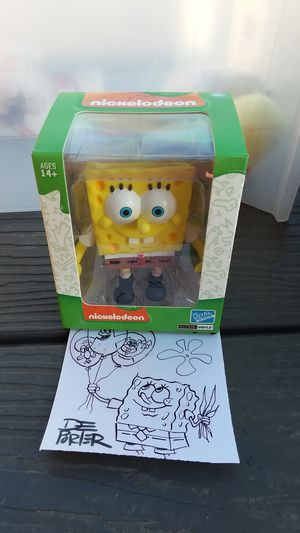 loyal subjects action vinyls Nickelodeon Spongebob figure miop with hand drawn image from artist DePorter for Sale in Surprise, AZ