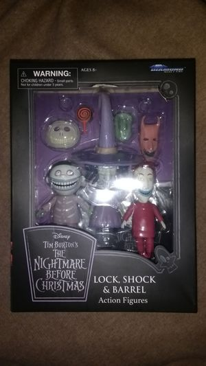 Nightmare before Christmas lock shock and barrel figures for Sale in Phoenix, AZ