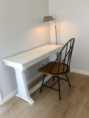 Antique White Wooden Desk for Sale in San Diego, CA