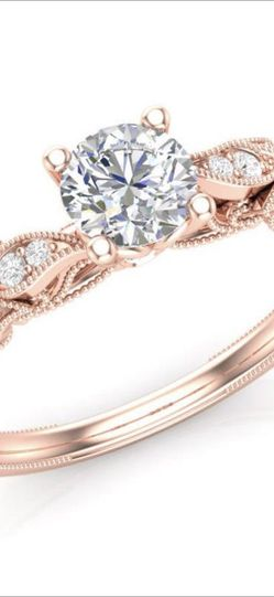 14k Floral Engagement Ring Size 5.5 for Sale in Arlington,  WA
