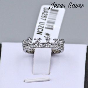 DA267 Stainless Steel CZ Crown Ring Size 5/6/9 for Sale in Fresno, CA