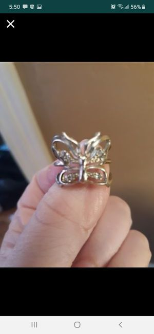 Sterling silver butterfly ring size 8 new for Sale in Southbridge, MA
