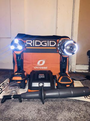 New RIDGID OCTANE 18V Brushless Hammer Drill & Impact Driver Combo Kit Set (2) Batteries (1) Charger & Tool Bag. Price is FIRM. $170 for Sale in Monterey Park, CA