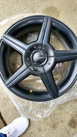 Set of 4 rims 16 × 7 vision brand matte black for Sale in Riverside, CA