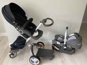 STOKKE stroller and car seat for Sale in Ransomville, NY