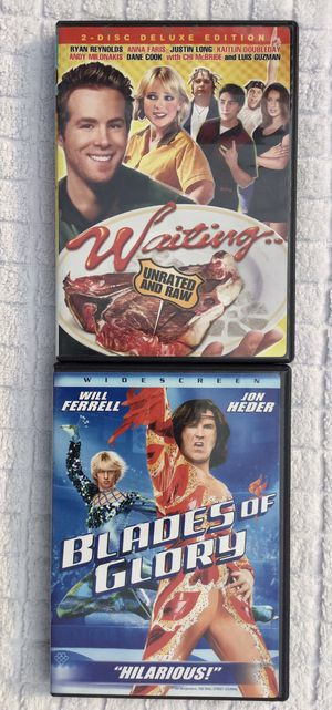 Waiting ( Unrated Version ) & Blades of Glory DVD Bundle for Sale in Fresno, CA