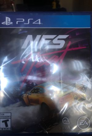 PS4 Need for speed $45 dollars pick up only for Sale in Moreno Valley, CA