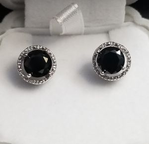 19kt White Gold Filled Black Onyx Stud Earring for Sale in Silver Spring, MD
