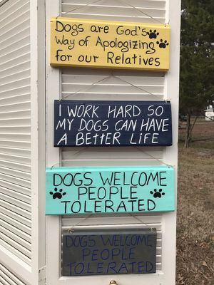 Funny dog signs for Sale in Durham, NC