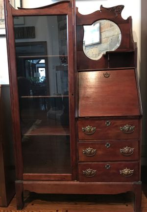 Antique hardwood secretary for Sale in Armonk, NY