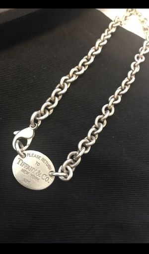 Authentic Tiffany and co oval tag necklace choker for Sale in Hacienda Heights, CA