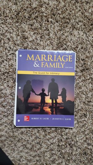 College Textbook: Marriage & Family 9th ed. Loose leaf for Sale in Hesperia, CA